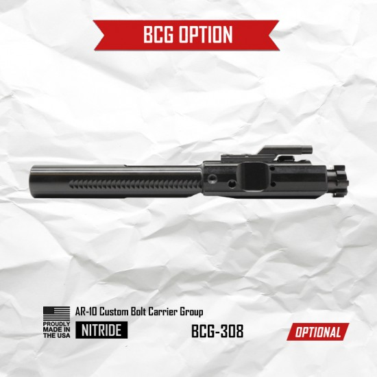 AR-10 / LR-308 16'' Barrel 12'' M-LOK Handguard | Carbine Upper Build U51 [ASSEMBLED]