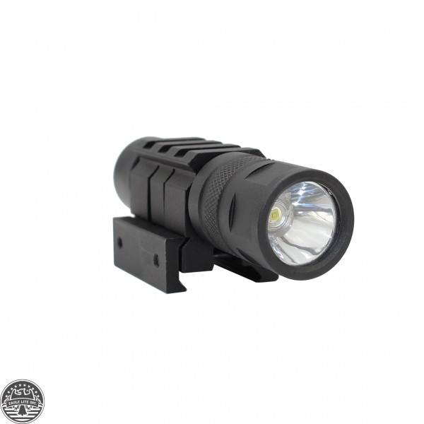 150 Lumen Rifle Shotgun LED Compact Flashlight Picatinny Wire Switch