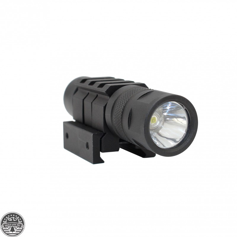 Lumen Rifle Shotgun LED Compact Flashlight Picatinny Wire Switch