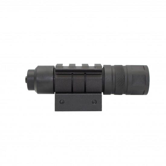 150 Lumen Rifle Shotgun LED Compact Flashlight Picatinny Wire Switch