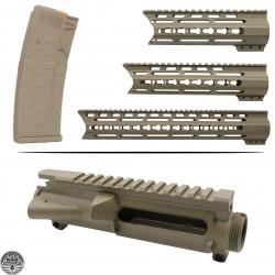Cerakote FDE |AR-15 Mil-Spec Upper Receiver And Handguard W/ Hexmag |Made In U.S.A