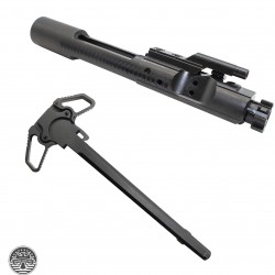 AR-15 .223/5.56 Bolt Carrier Group- Black Nitride -With Ambidextrous Charging Handle