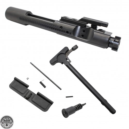 AR-15 .223/5.56 Bolt Carrier Group- Black Nitride -Bundle: Charging Handle, Ejection Port Cover and Forward Assist