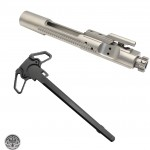 USA Made .223/5.56/300 BLK Nickel Boron Bolt Carrier Group - NiB And Dual Ambidextrous Charging Handle