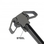 AR-15 DUAL AMBIDEXTROUS CHARGING HANDLE WITH STEEL LATCH