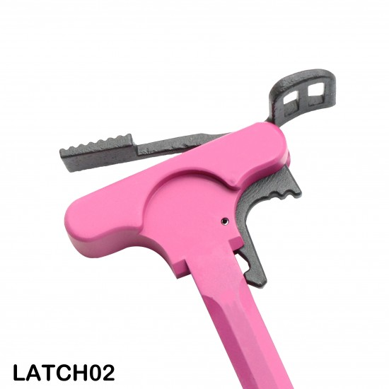 Cerakote Pink   AR-10 .308 Tactical Charging Handle Assembly With Latch Options
