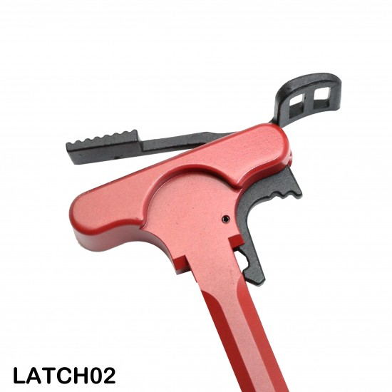 AR-10 / LR-308 Cerakote Red Charging Handle With Latch Options