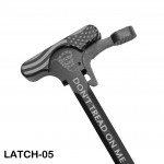 AR-10 Tactical Charging Handle Assembly With Latch Options: Laser Dtom