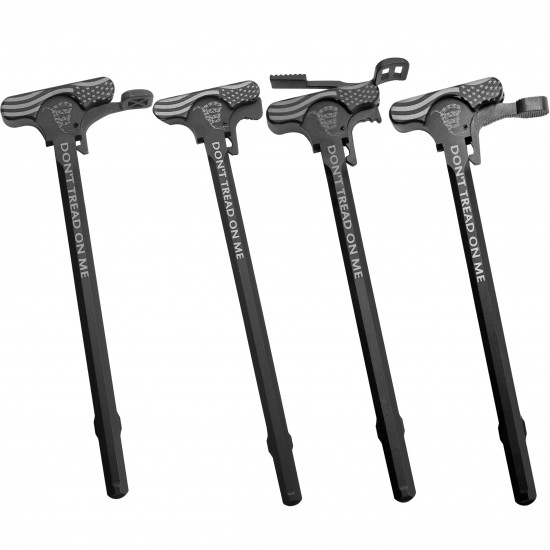 AR-10 / LR-308 LASER DTOM Charging Handle Assembly With Latch Options