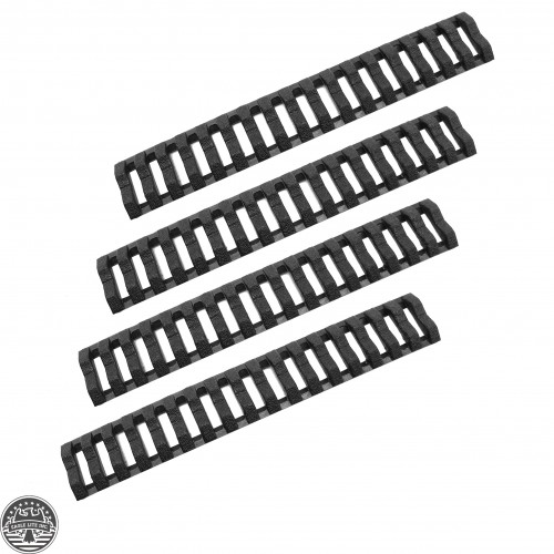 BLACK Ladder Rail Cover pack of 4 Carbine Length Quad Rails Handguard
