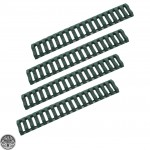 Ladder Rail Cover pack of 4 Carbine Length Quad Rails Handguard Green