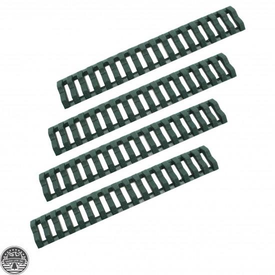 Ladder Rail Cover pack of 4 Carbine Length Quad Rails Handguard Green