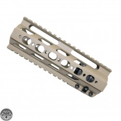 "Cerakote FDE | AR-15 -Super Slim Ultra Light Free Float 7"" Inch Handguard"