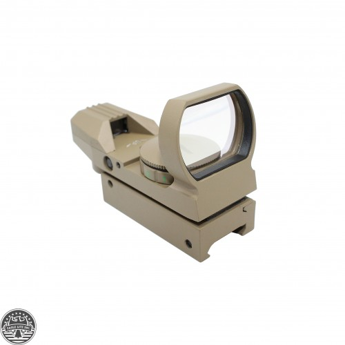 AR15 Tactical Holographic Reflex Red FDE Adjustable Dot Sight w/ Rail Mount - FLAT DARK EARTH