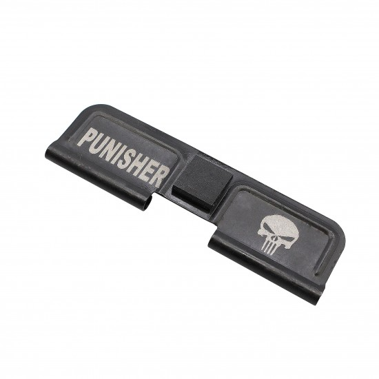 """AR-15 Ejection Port Cover Door   Dust Cover Only: Laser Engraved """"PUNISHER"""""""