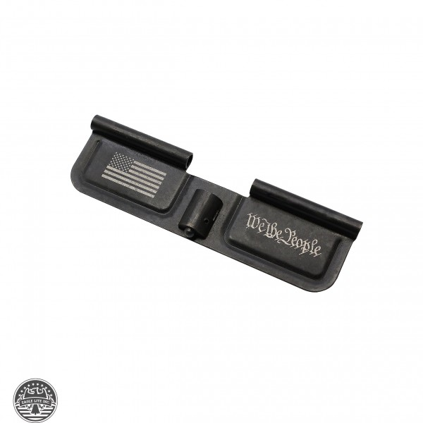 """AR-15 Ejection Port Cover Door Only: Laser Engraved """"We The People"""""""