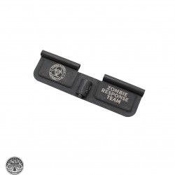 "AR-15 Ejection Port Cover Door ONLY: Laser Engraved ""ZOMBIE RESPONSE TEAM"""
