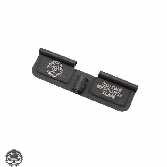 "AR-15 Ejection Port Cover Door | Dust Cover Only: Laser Engraved ""ZOMBIE RESPONSE TEAM"""