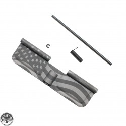 AR-15 Ejection Port Cover Assembly- American Flag Laser Etched