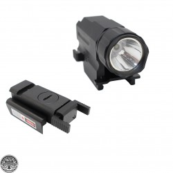 Tactical Red Laser + 150 Lumens Led FLashlight Combo