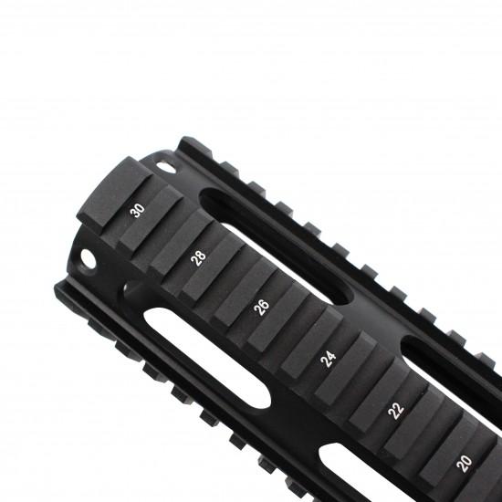 AR-15 Free Float Quad Rail Handguard -Length Option