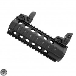 "T-Series Free Float 7"" Quad Handguard W/Flip Up Sights"