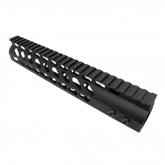 AR-15 Super Slim Keymod Free Float Handguard 223 556 Steel Barrel Nut