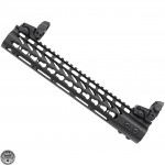 "AR-15 12"" Slim Keymod Free Float Handguard w/ Free Flip Up Sights"