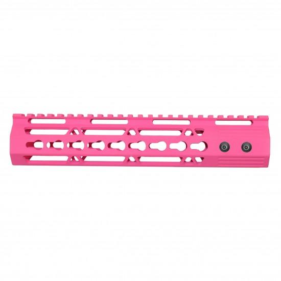Cerakote Pink | AR-15 10'' Ultra Slim Keymod Handguard W/ Steel Barrel Nut