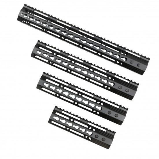 AR-15 Ultra Slim Keymod Handguards W/Steel Barrel Nut