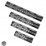 AR-15 Ultra Slim Keymod Handguards W/ Steel Barrel Nut