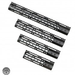 AR-15 Ultra Slim Keymod Handguards W/Steel Barrel Nut