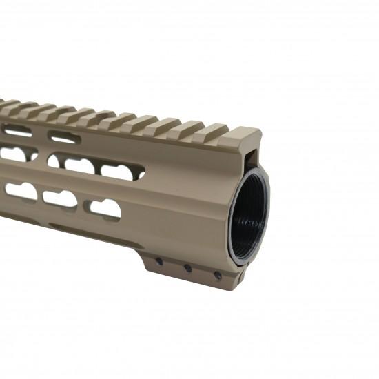 Cerakote FDE | AR-15 Angle Cut Clamp-on Keymod Handguard | Made In U.S.A.