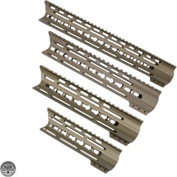 Cerakote FDE | AR-15 Angle Cut Clamp-on Keymod Handguard | Made In U.S.A.