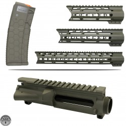 CERAKOTE OD-GREEN | AR-15 Mil-Spec Upper Receiver and Handguard W/ Hexmag |MADE IN USA