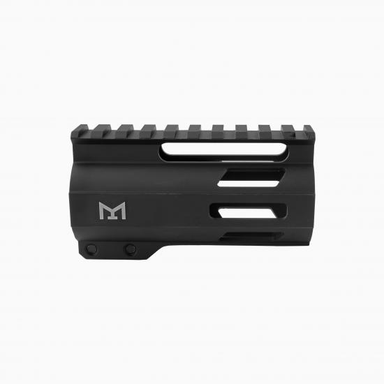 "AR-15  4"" M-Lok Super Slim Free Float Handguard W/ 2"" & 3"" M-Lok Rail Sections"