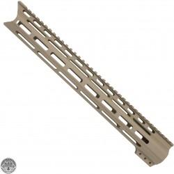 "CERAKOTE FDE| AR-15 15"" Angle Cut Clamp on M-LOK Handguard | Made in USA"