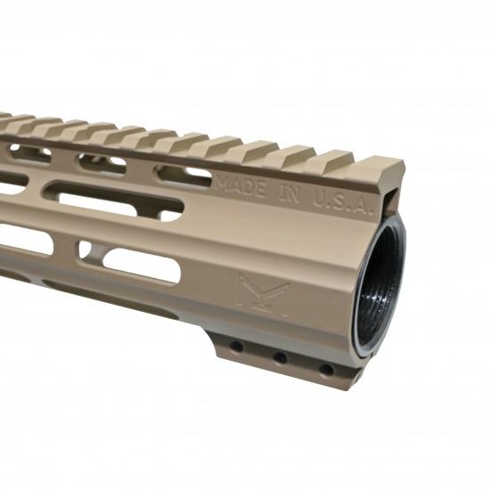 "CERAKOTE FDE  AR-15 15"" Angle Cut Clamp on M-LOK Handguard   Made in USA"