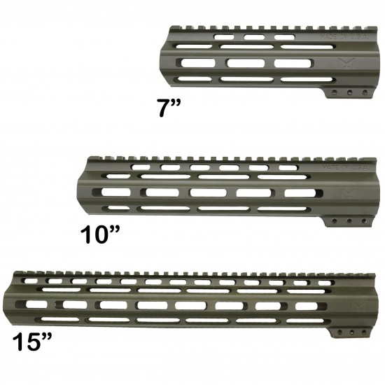CERAKOTE OD-GREEN | AR-15 Angle Cut Clamp on M-LOK Handguard | Made in USA
