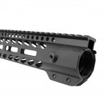 AR-15 M-LOK Super Slim Free Float Handguard  with Steel Barrel Nut