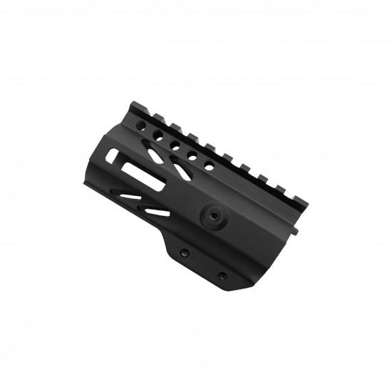 "AR-15 4"" M-LOK Super Slim Free Float Handguard with Steel Barrel Nut"