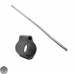 Low-Profile Micro Steel AR Gas Block.750 + Stainless Steel Gas Tube - Pistol Length