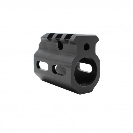 AR Picatinny Style Single Rail Gas Block .750 Dia.   Skeletonized