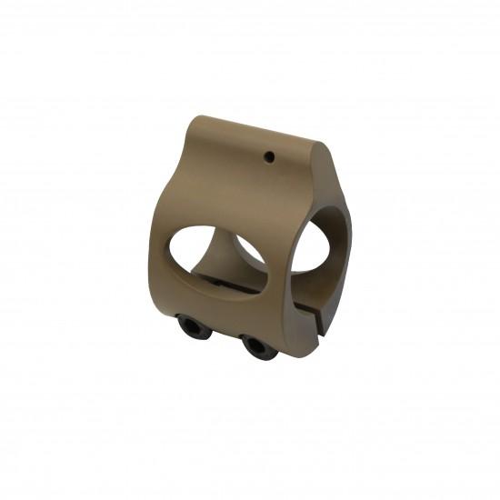 Cerakote FDE |Low Profile Steel Micro Gas Block - Clamp-on Design