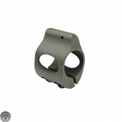Cerakote OD-Green | Low Profile Steel Micro Gas Block - Clamp-on Design