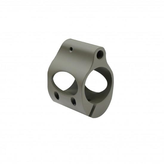 Cerakote OD-Green | Low Profile Steel Micro Gas Block - Clamp-on Design