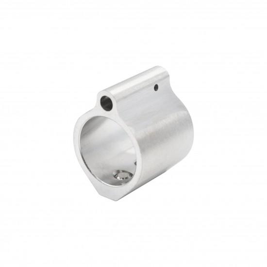 "Low Profile Stainless Steel Micro Gas Block - .875"" Diameter"
