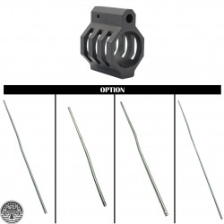 AR-15 Skeleton Gas Block With Gas Tube Options
