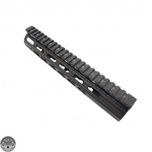 AR10 SLIM KEYMOD FREE FLOAT CLAMP-ON STYLE HAND GUARD W/DETACHABLE RAILS/10""