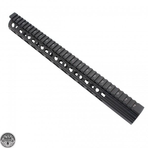 AR10 Slim Keymod Free Float Clamp-On Style Hand Guard W/Detachable Rails/15""